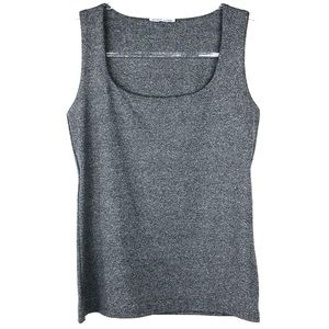 Zara Gray Scoop Neck Tank Top Medium